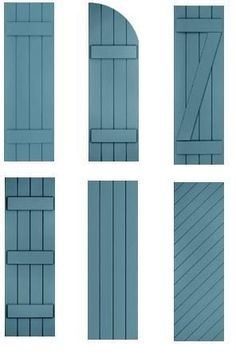 shutters...in black, first style with working hinges and shutter dogs.