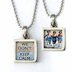 Don\'t Want to Keep Calm Necklace  Lots of NEW Jewelry for you to check out! Shop Now! www.femailcreatio... #UniqueGifts #GiftsForWomen #Gifts #GiftsForAllOccassions #InspirationalGifts #ValentinesDay #ValentinesDayGifts