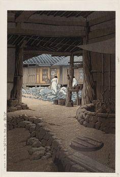 "Kawase Hasui: ""The Chunum Temple, Mt. Chiri, Korea"" (Chôsen Chiizan Sen'in-ji), from the series ""Views of Korea, Continued"" (Zoku Chôsen fûkei)"
