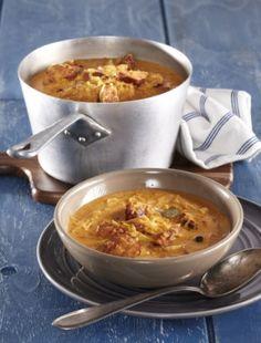 Vydatná zelňačka Czech Recipes, Food Styling, Chili, Recipies, Soup, Recipes, Chile, Soups, Chilis