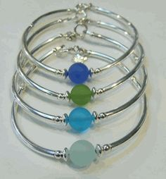 Cape Cod sea glass bracelets. Cool.