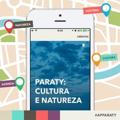 """Você já conhece o aplicativo """"Paraty: cultura e natureza""""? Baixe pelo celular e tenha Paraty na palma da sua mão. A iniciativa da Prefeitura de Paraty, através da Secretaria de Cultura de Paraty, em parceria com a Fundação Roberto Marinho.  Quem curte Paraty, compartilha!  #cultura #turismo #arte #VisiteParaty #TurismoParaty #Paraty #PousadaDoCareca #AppParaty #ParatyApp #APP #Apparaty"""