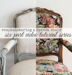 reupholstering a French chair | part 6 | applying the trim - Miss Mustard Seed