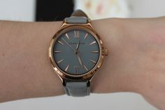 Spring Watches - Grey and rose gold Anne Klein watch.
