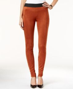 INC International Concepts Faux-Suede Leggings, Only at Macy's
