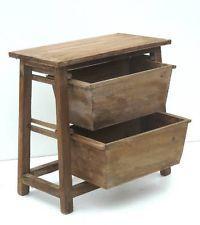 style ancien meuble a casier caisse bac de rangement de cuisine etagere bois