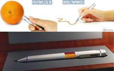 Scribble - The 16 Million Color Drawing Pen - http://coolpile.com/gadgets-magazine/scribble-16-million-color-drawing-pen via coolpile.com  #Bluetooth  #Cool  #Design  #Drawings  #HandDrawing  #MicroUSB  #Rechargeable  #Smartphones  #Stylus  #Tablets  #WritingTools  #coolpile