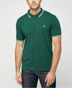 Fred Perry Twin Tip Polo Shirt in Green