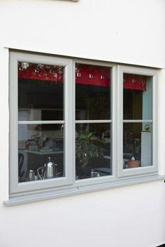 uPVC Casement window in Pearl Grey - nice Coloured Upvc Windows, Grey Windows, Windows And Doors, Modern Windows, Sash Windows, French Casement Windows, Cottage Windows, House Windows