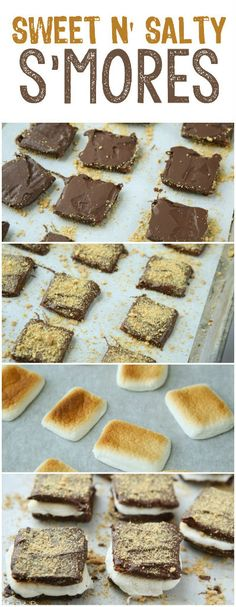 One of the best s'more recipes, love the idea of the chocolate covered Triscuits and a hint of sea salt to make these sweet n' salty s'mores #makersofmore #sponsored