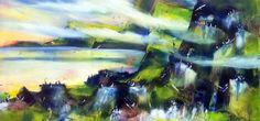 "Landscape of the Faroe Islands by Christina Kjelsmark - 20"" x 40"", Acrylic on Canvas - $2,250.00 - www.nordicartwork.com"