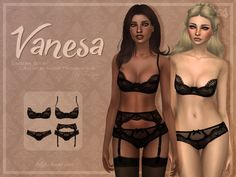 Trillyke - Black Lingerie Collection (Vanesa and Sally)