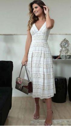Mais um Gatinhooo 😻😻Regrann from _____________________ Day Dresses, Cute Dresses, Beautiful Dresses, Casual Dresses, Short Dresses, Summer Dresses, Boho Dress, Dress Skirt, Dress Up