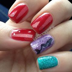 little mermaid nails.