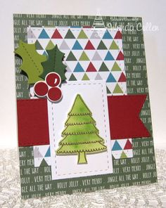 Handmade card by Wanda Cullen using the Holiday Greetings stamp set from Verve. #vervestamps