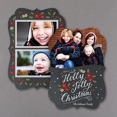 Jolly Chalkboard - Holiday Card - Crest       40% OFF     http://mediaplus.carlsoncraft.com/Holiday/Photo-Cards/XG-XG32193FCC-Jolly-Chalkboard--Holiday-Card--Crest.pro