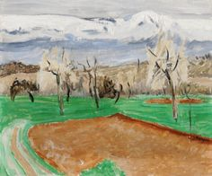 Hans Berger (Swiss, 1882–1977), Printemps, n/d. Oil on canvas, 38 x 46 cm