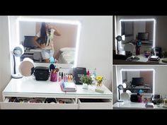 DIY Faça Você Mesma | Espelho Camarim com Led - Por Jéssica Freitas - YouTube