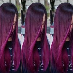 33 trendy ombre hair color ideas of 2019 - Hairstyles Trends Cute Hair Colors, Pretty Hair Color, Hair Dye Colors, Fuschia Hair, Hair Color Purple, Purple Ombre, Violet Ombre, Color Fuchsia, Turquoise Hair