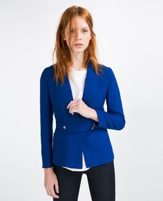 Image 2 of FABRIC WAIST BLAZER from Zara
