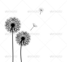 Abstract Dandelion Background  #GraphicRiver