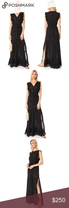 """Cleobella Black Maxi Dress Undecided • not quite sure I want to sell yet! This is an absolutely beautiful dress from Cleobella. Size Small. Sadly, it's too long for my petite 5'3"""" height. I am debating whether or not I want to have it altered. I do not model. If you would like to see a moving visual of it, visit shopbop's site and watch the video- Milonga Dress. Cleobella Dresses Maxi"""