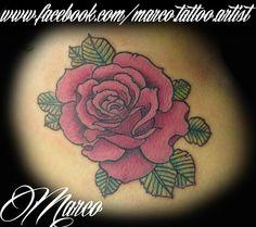 Tattoo, tatuagem, rose, rosa, old school