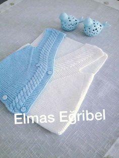 Örgü Bebek Yelek Yapılışı Anlatımlı | elisiorgudukkani.com Baby Vest, Baby Cardigan, Little Girl Dresses, Little Girls, Knit Baby Dress, Piercings, Moda Emo, Baby Knitting Patterns, Crochet For Kids