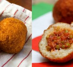 Arancini,+boules+de+riz+panées+frites Baked Potato, Risotto, Entrees, Muffin, Potatoes, Baking, Breakfast, Ethnic Recipes, Cook