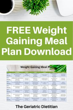 Gain Weight Smoothie, Weight Gain Meal Plan, Healthy Weight Gain, Weight Loss, Meal Planning Binder, Meal Planner, Weight Gain Journey, Reflux Diet, Free Meal Plans
