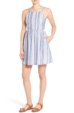 Free shipping and returns on Lush Stripe Fit & Flare Dress at Nordstrom.com. Perfect for relaxed summer days, this striped dress features a flattering fit-and-flare silhouette and the cool, fresh feel of pure cotton.