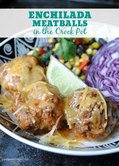 Low carb OPTIONS Enchilada Meatballs in the Crock Pot  **the recipe calls for 1/4 cup panko crumbs for 1 pound of meat** You could substitute almond meal.