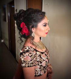 "Pratibha Nalla Studio ""Portfolio"" album -Bridal Hairstyle for Long Hair Bridal Wedding Hairstyle, Mehendi Hairstyle. Hairstyle Wedding, Braided Hairstyles For Wedding, Bun Hairstyles, Mehendi, Braids, Album, Long Hair Styles, Studio, Women"