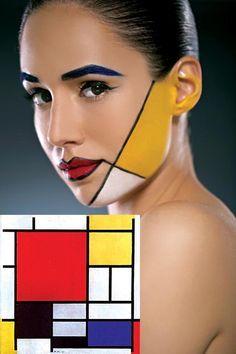 mondrian makeup - Google Search