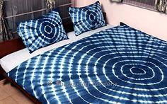 Bhagyoday Fashions - Tie Dye Duvet Cover Set - Shibori In. Tie Dye Bedroom, Tie Dye Bedding, African Interior, African Home Decor, Cama Tie Dye, Diy Tie Dye Techniques, Tie Dye Crafts, How To Dye Fabric, Home Decor Furniture