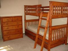 Mission Twin Bunk Bed - Natural Cherry Stain + Lacquer Clearcoat