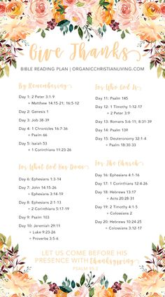 Thanksgiving Bible Study | Thanksgiving Bible Verses | Thanksgiving Bible Study Lesson | Bible Reading Plan For Women | Bible Study For Beginners | Give Thanks