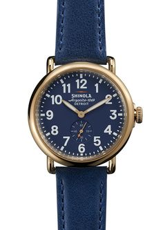 We love the gorgeous navy on this Shinola watch. #EveryDayMoments #MadeinDetroit!