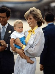 The Prince and Princess of Wales and baby Prince William on their Royal Tour of Australia