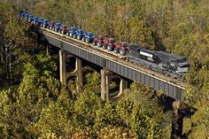 Tractor train by Norfolk Southern, via Flickr