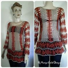 Blusa  Crochet  Grampo  Bianca  (malhação)