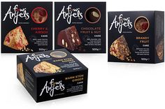 four anjels cakes columbine cakes hills design packaging design Brownie Packaging, Dessert Packaging, Chocolate Packaging, Food Packaging, Packaging Design, Food Graphic Design, Food Design, Biscuits Packaging, Pastry Design