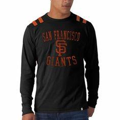 '47 Brand San Francisco Giants Bruiser Long Sleeve T-Shirt - Black