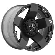 KMC Wheels XD Series™ 775 Rockstar in Flat Black for 07-up Jeep® Wrangler & Wrangler Unlimited JK