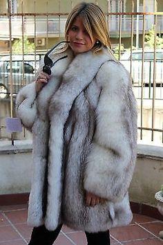 Blue fox шуба fuchsjacke pelz mantel fourrure renard pelliccia volpe mexa