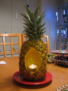 Pineapple Candle Centerpiece