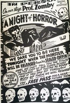 "Prof. Zomby ""A Night Of Horror"" Stage Show Poster 