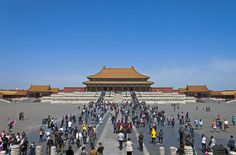 Hall of Supreme Harmony, Forbidden City, Beijing, with tourists 2 - Tourism in China - Wikipedia, the free encyclopedia