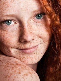 Girl innocent freckles little