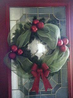 Cute deco mesh wreath                                                       …